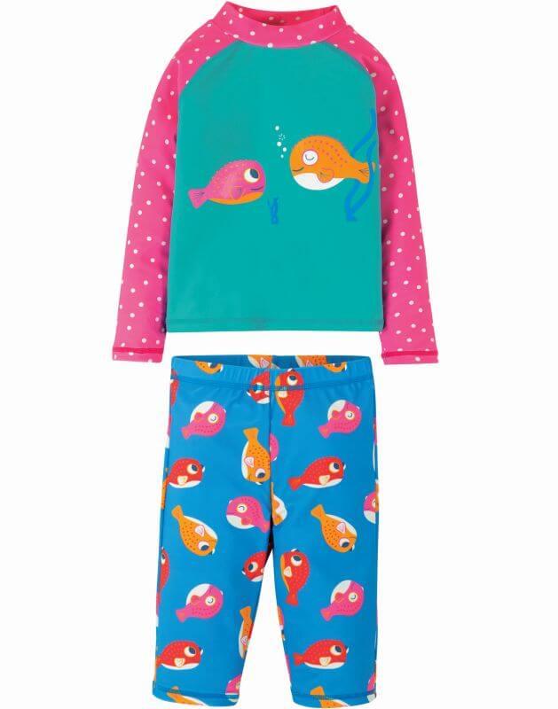 Hübsches Bade-Outfit mit Kugelfischen