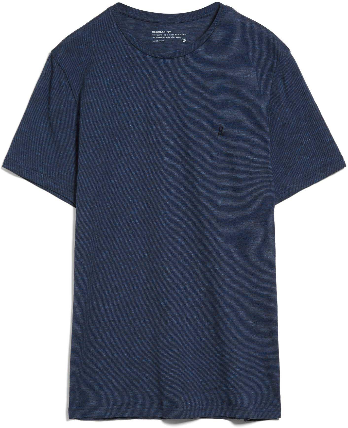 Herren-Shirt JAAMES STRUCTURE depth navy/ marazine blue