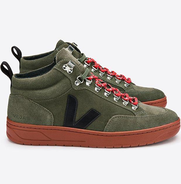 Sneaker Roraima Suede Olive/Black/Rust Sole