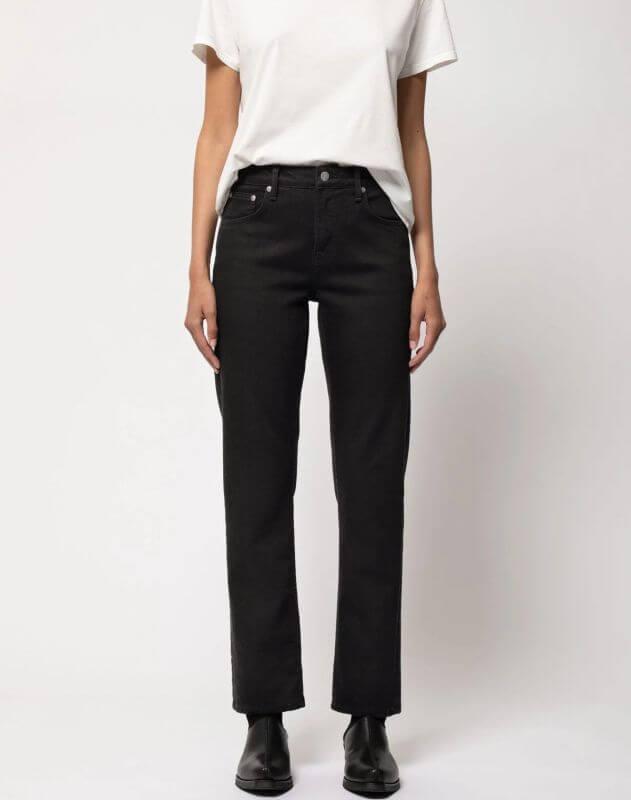 Damen-Jeans Straight Sally - Ever Black