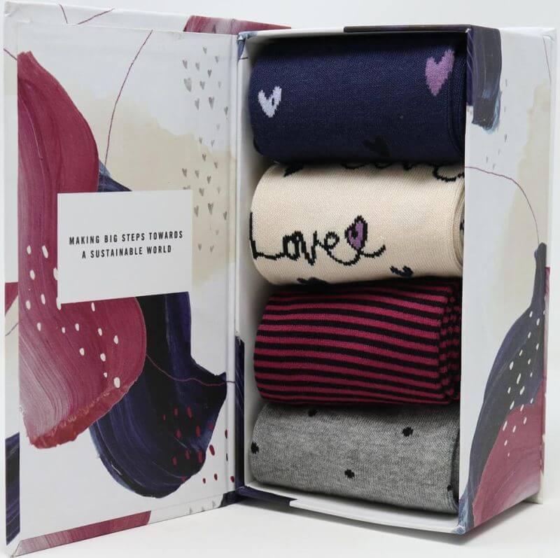 Geschenk-Box Amore Love mit Damen-Socken