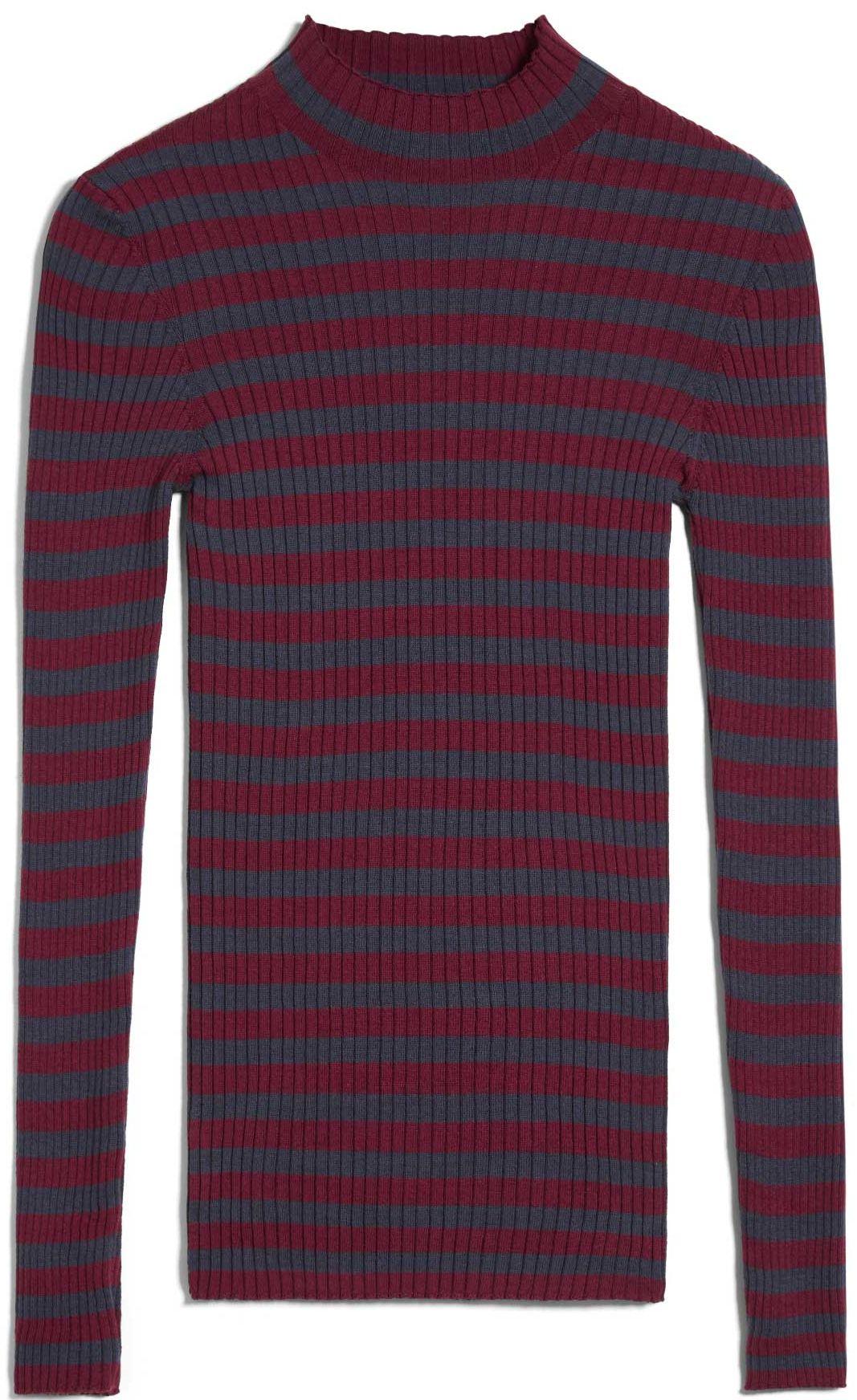 Damen-Pullover ALAANI STRIPED ruby red/ indigo