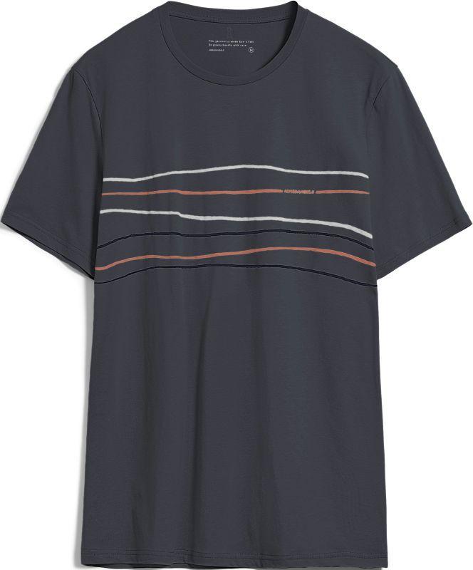 T-Shirt JAAMES CROOKED LINES acid black