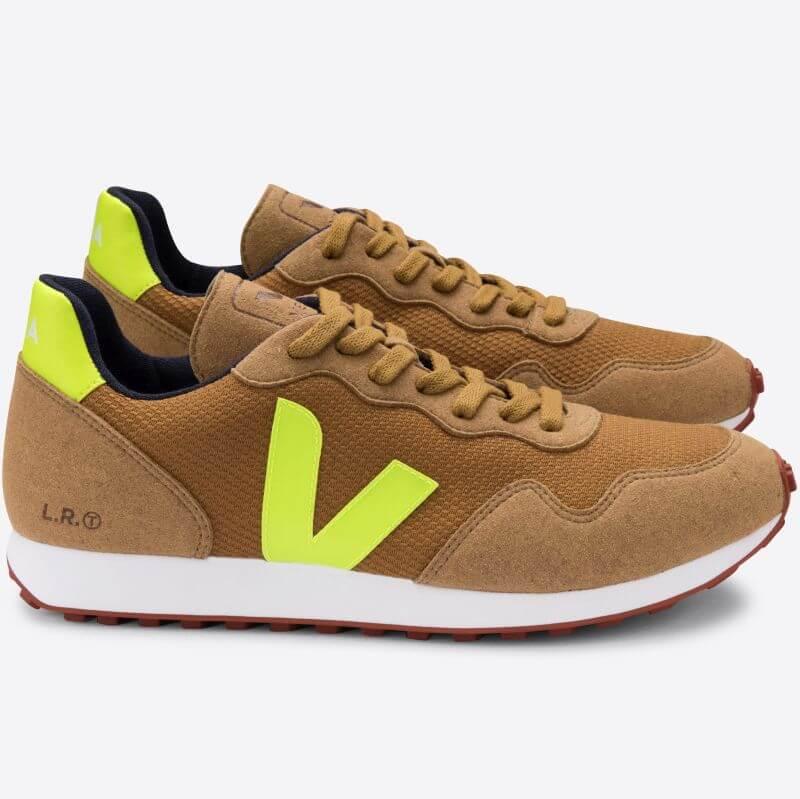 Vegane Herren-Sneaker SDU REC B-Mesh Tent Jaune Fluo