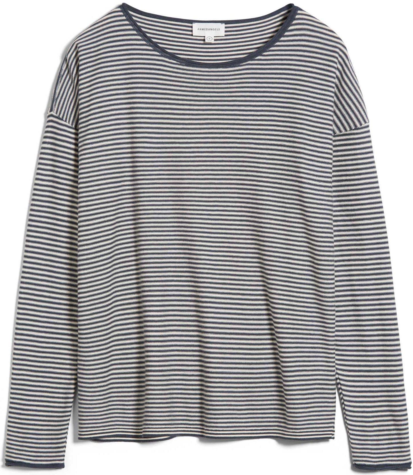 Damen-Pullover LADAA STRIPED indigo/ oatmilk