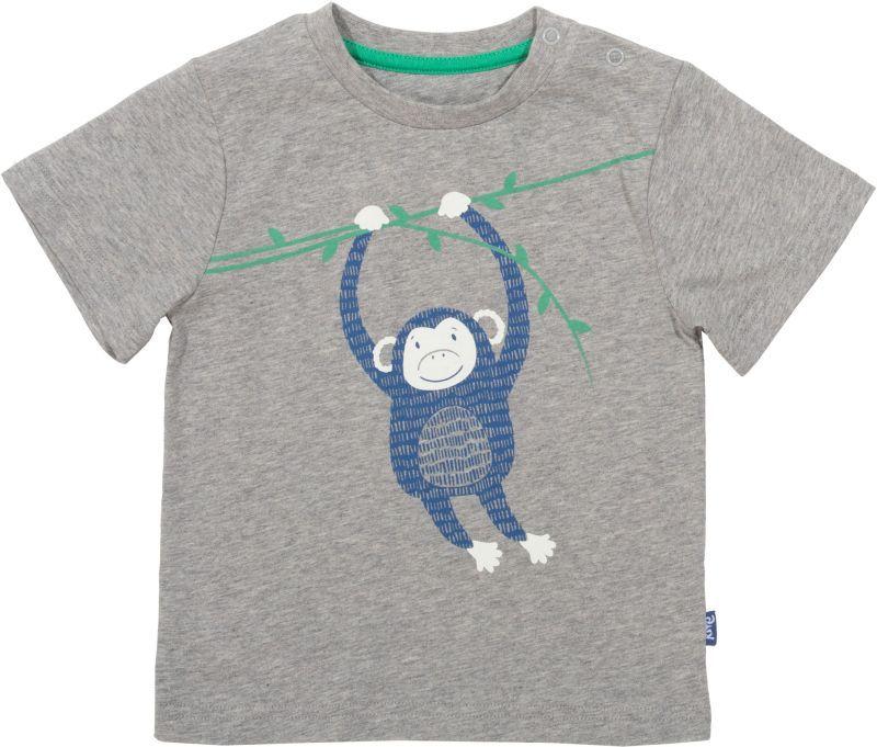 Graues Jungs-Shirt mit lustigem Affen