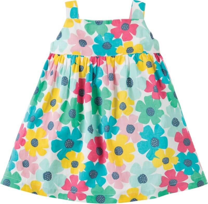 Bunt geblümtes Baby-Kleidchen