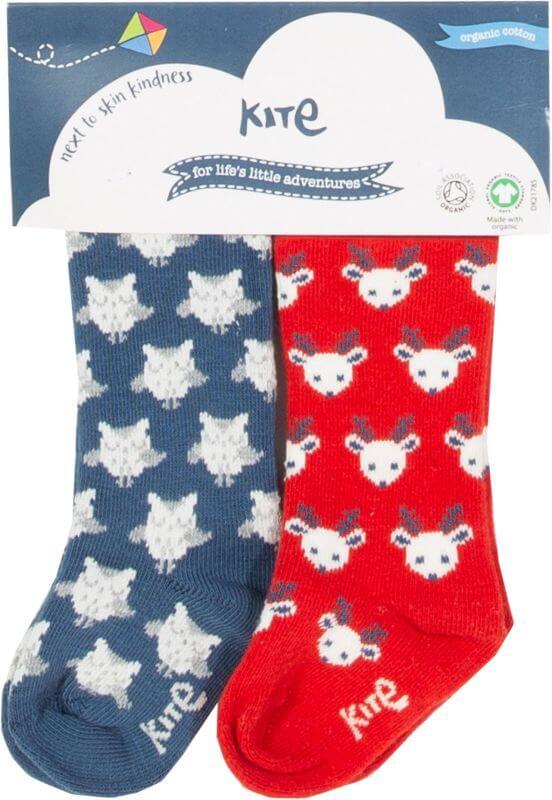 Winterliche Baby-Socken im 2er-Pack