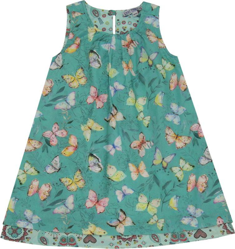 Hübsches Wendekleid mit Schmetterlingen jade
