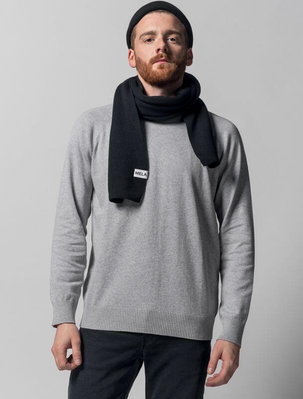 Modischer Strick-Schal in Schwarz unisex