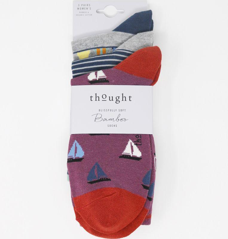 Bunte Damen-Socken Hope Nautical im 3er-Pack