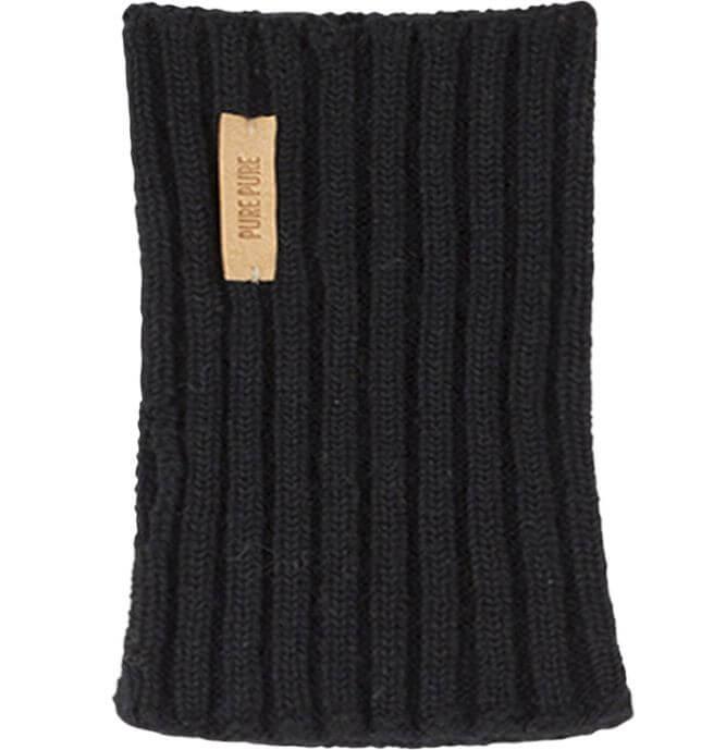 Weiche Armstulpen in Schwarz (100% Wolle)