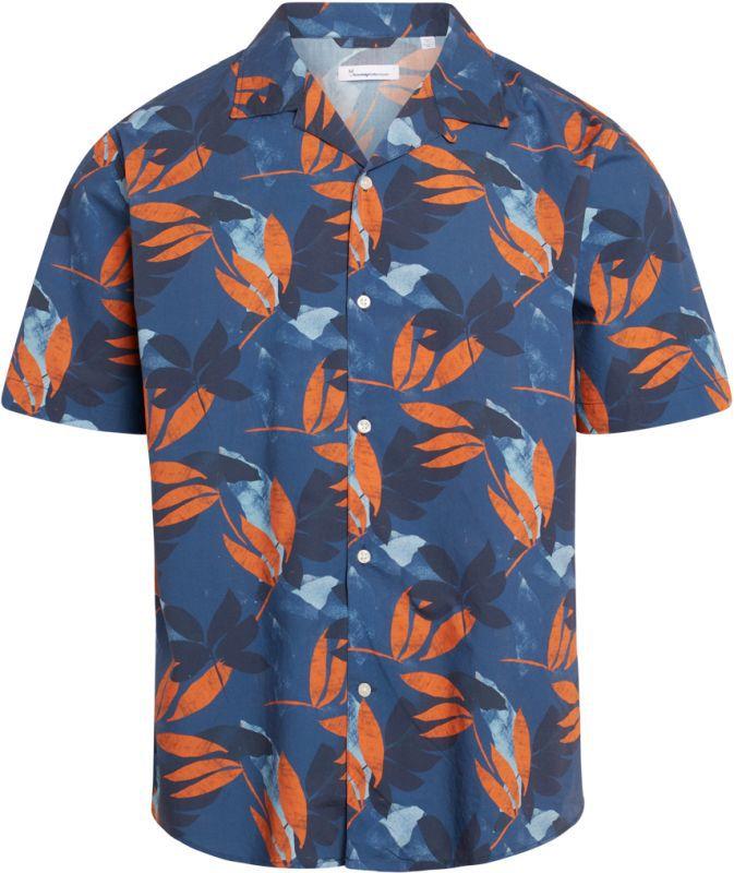 Geblümtes Kurzarm-Hemd für Herren WAVE