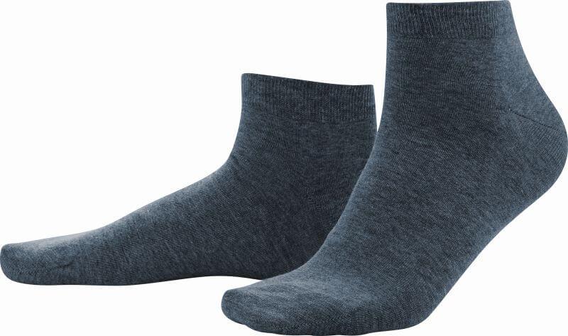 Dunkelblaue Sneaker-Socken im Doppelpack