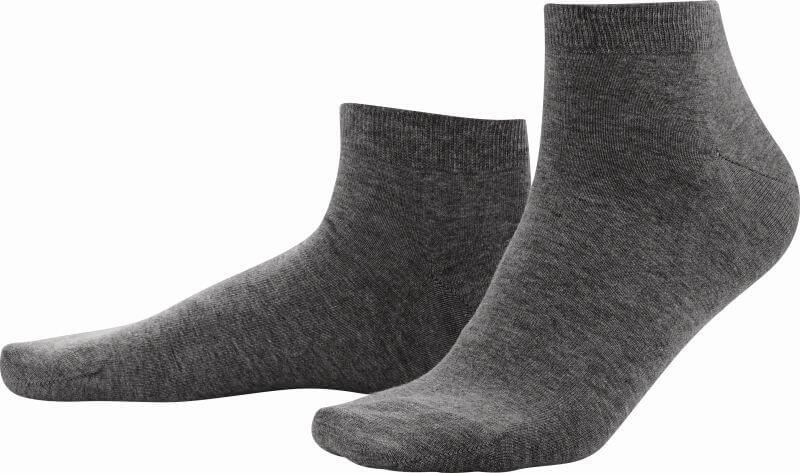 Dunkelgraue Sneaker-Socken im Doppelpack