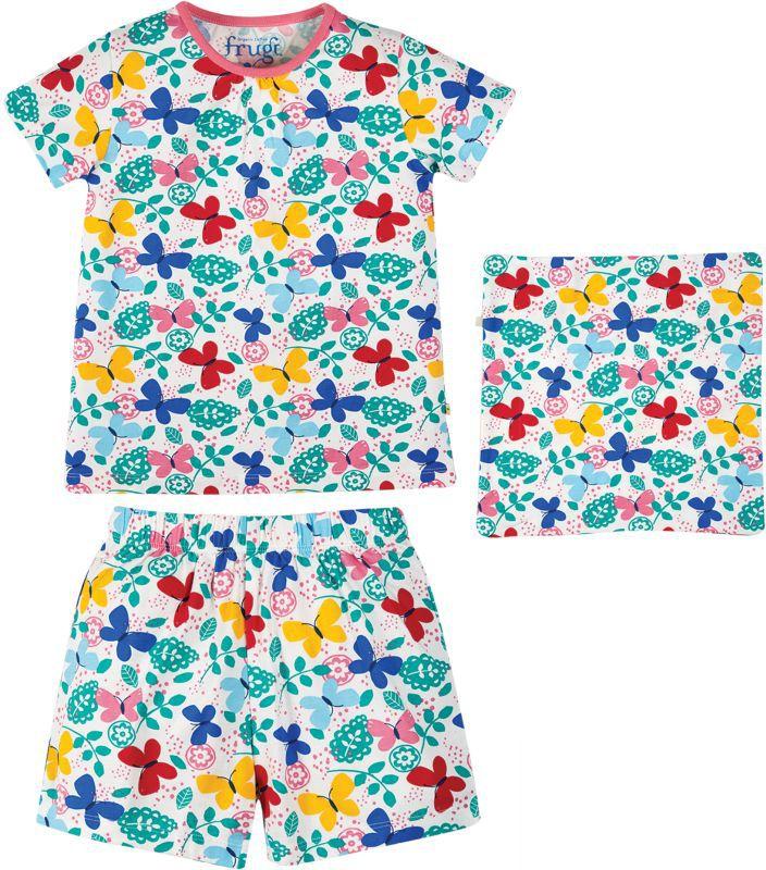 Bunter Kurzarm-Schlafanzug mit Schmetterlingen