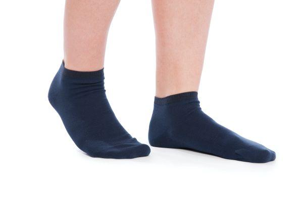 Sneaker-Socken im 2er-Pack schwarz / blau