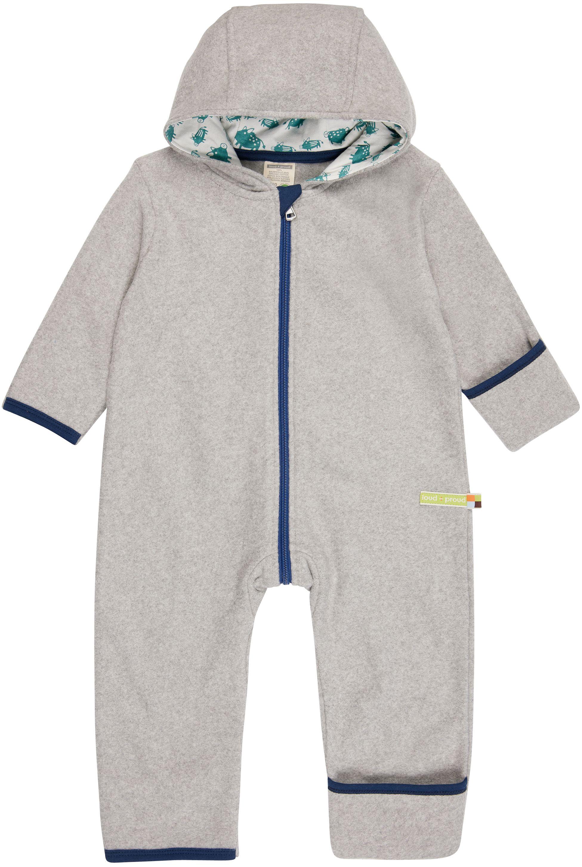 Weicher Fleece-Overall für Kinder in Grau
