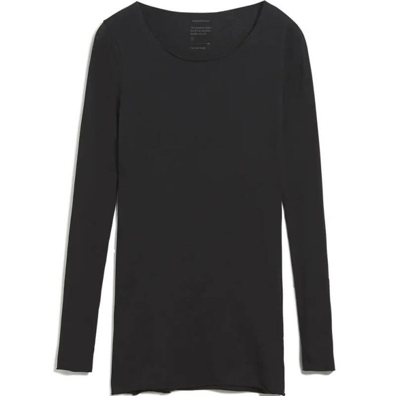 Damen-Longsleeve EVVAA CUSTOMIZED black