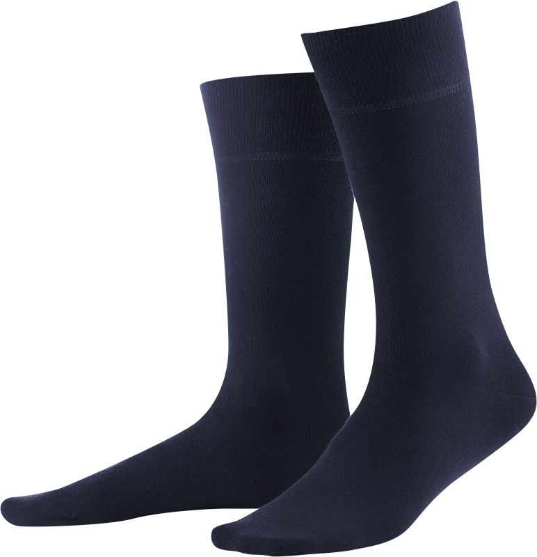 Dunkelblaue Herren-Socken im Doppelpack