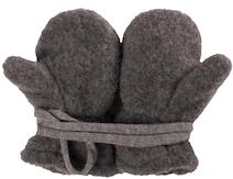 Kuschelige Baby-Fäustel in Grau (100% Wolle)