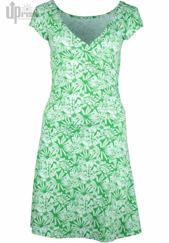 Grünes Kurzarm-Kleid Party Dress Tropical Garden