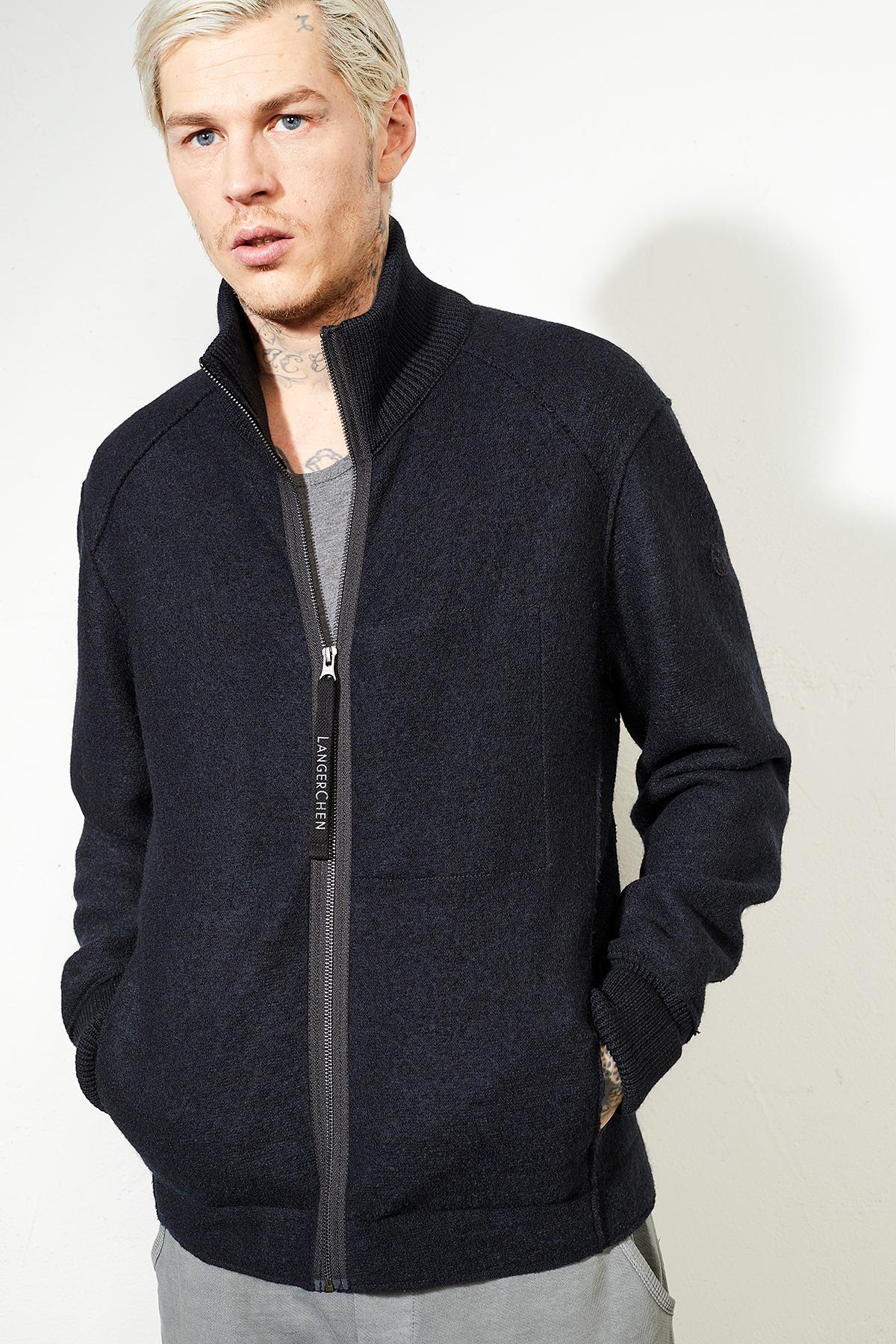 Herren-Jacke aus Wolle Linwood carbon