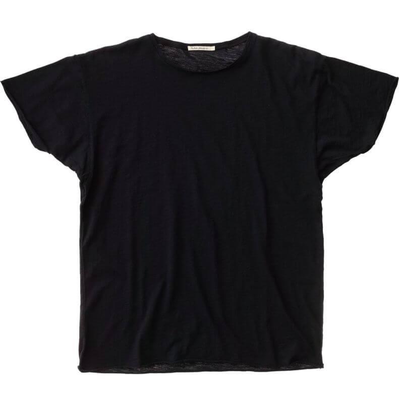 Basic T-Shirt Roger Slub in Schwarz
