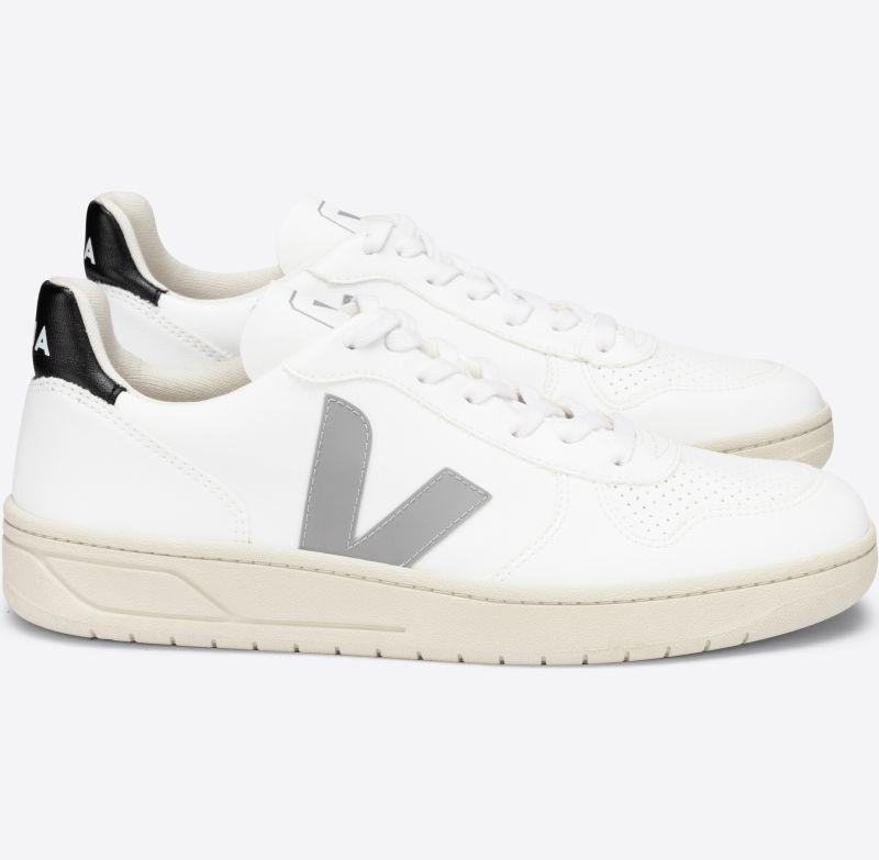 Vegane Herren-Sneaker V-10 CWL White Oxford/Grey Black