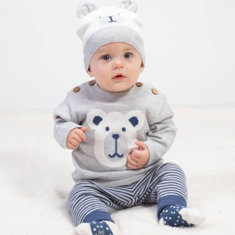 Zweiteiliges Baby-Set mit Eisbär