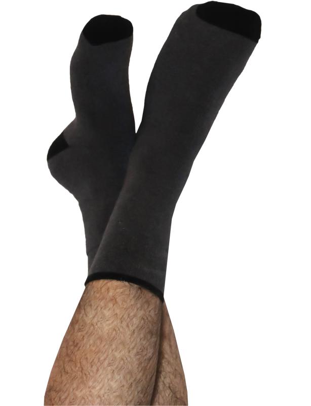 Weiche Frottee-Socken anthrazit melange