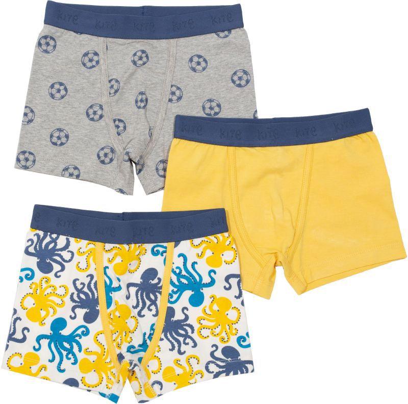 Coole Jungs-Shorts im 3er-Pack mit Oktopus