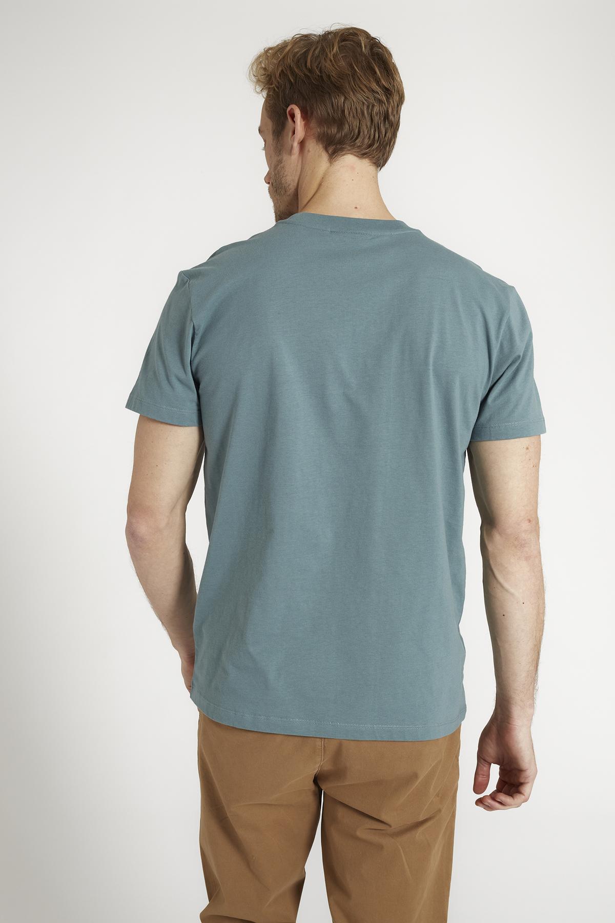 Herren-Shirt AGAVE HOUSExBIKER lake green