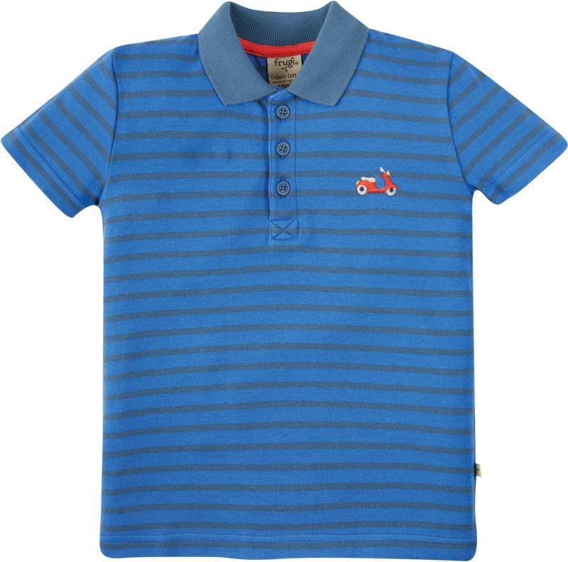 Blau gestreiftes Polo-Shirt für Jungs
