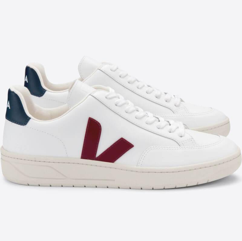 Damen-Sneaker V-12 Extra White Marsala Nautico