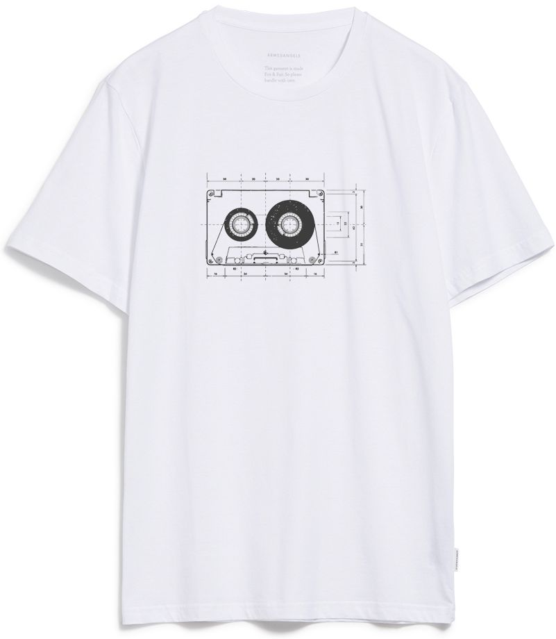 Herren-Shirt JAAMES TAPE white