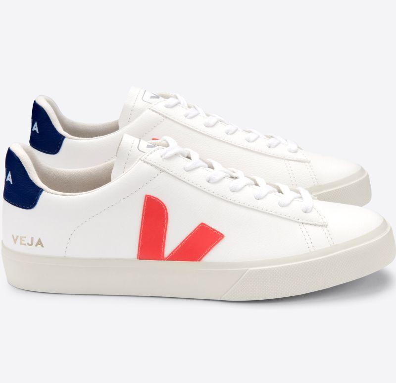 Herren-Sneaker Campo Chromefree Extra White/Orange/Fluo Cobalt