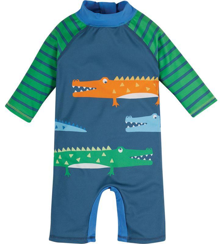 Cooler Bade-Overall mit Krokodilen