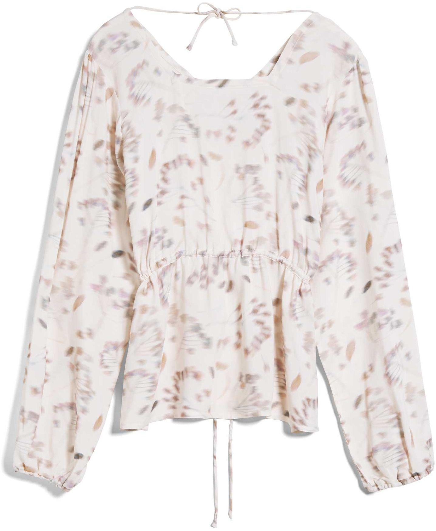 Damen-Bluse ADRIAA PRESSED FLOWERS oatmilk