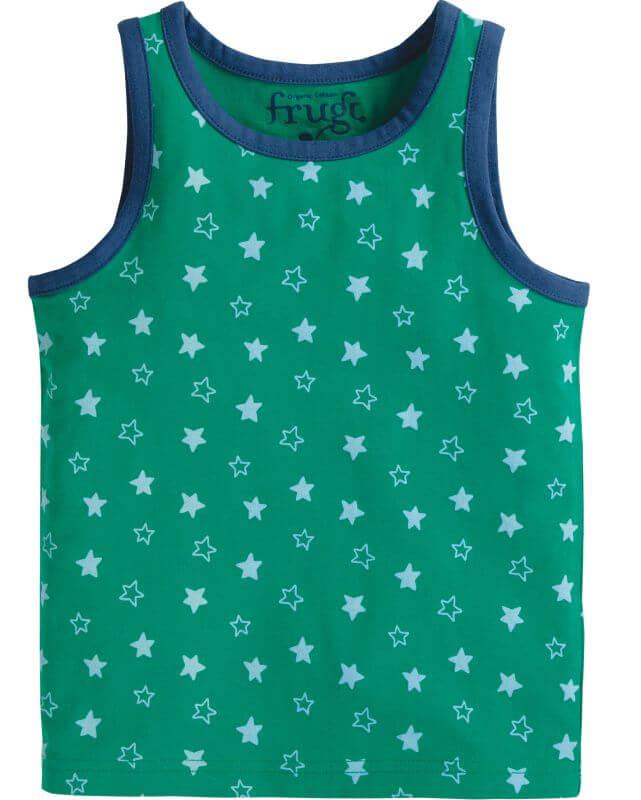 Grünes Jungs-Unterhemd mit Sternen