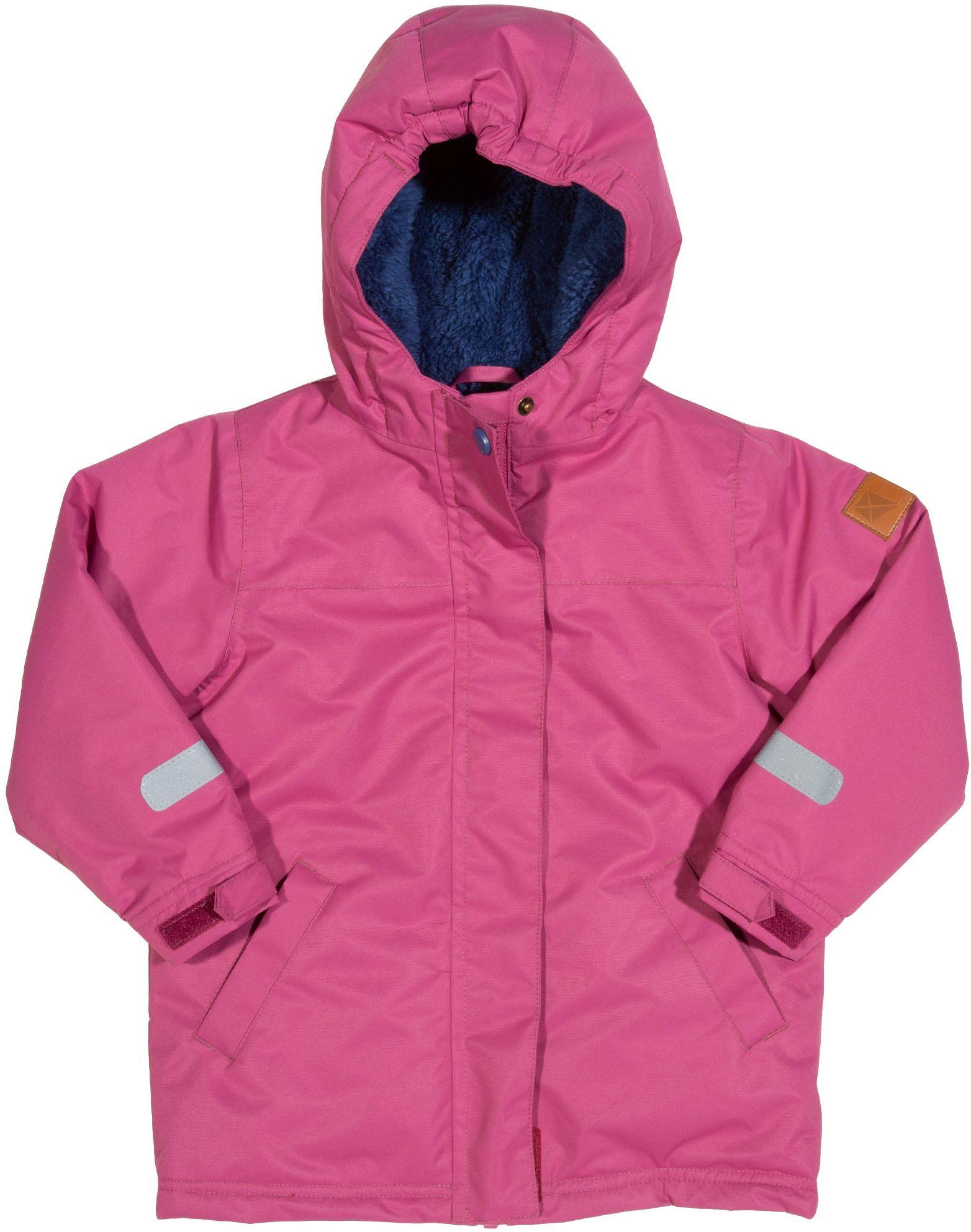 Wasserdichte Kinder-Outdoorjacke mit gefütterter Kapuze in pink