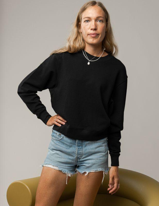 Sportliches Basic-Sweatshirt RATI in schwarz
