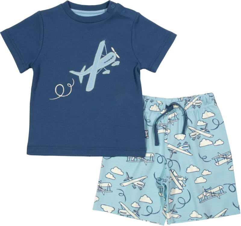 Cooles Baby-Set mit Flugzeugen