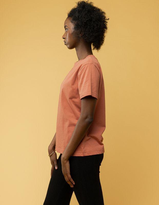Basic Damen-Shirt KHIRA sienna orange
