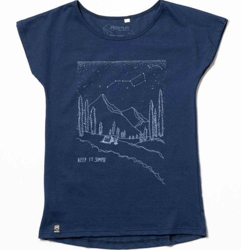 Dunkelblaues Damen-Shirt Lea Berge