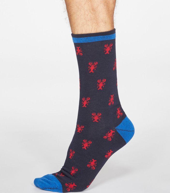 Herren-Socken Carlos mit Hummern in Dark Navy