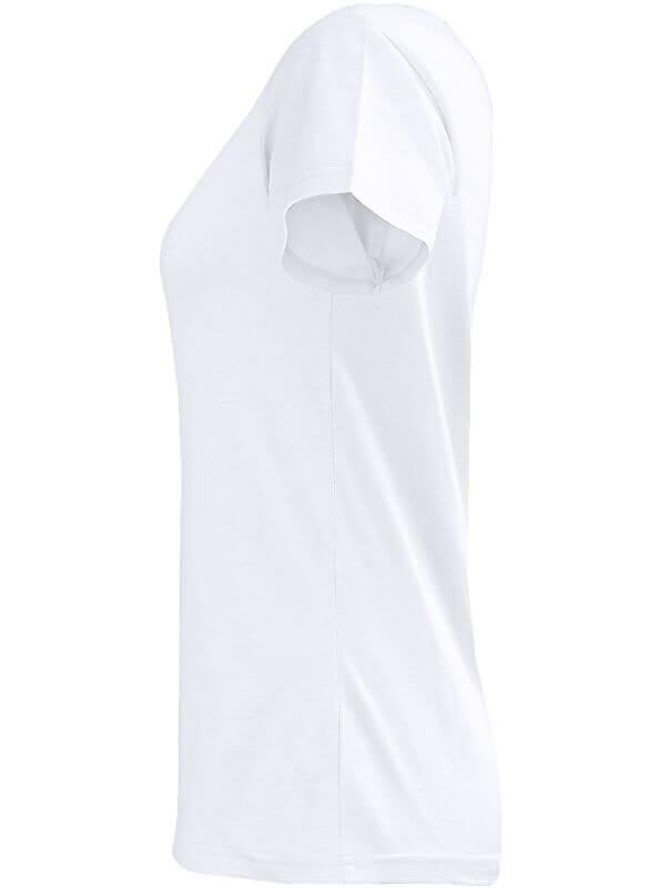 Weißes Basic T-Shirt für Damen