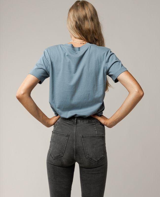 Basic Damen-Shirt KHIRA in pasty blue