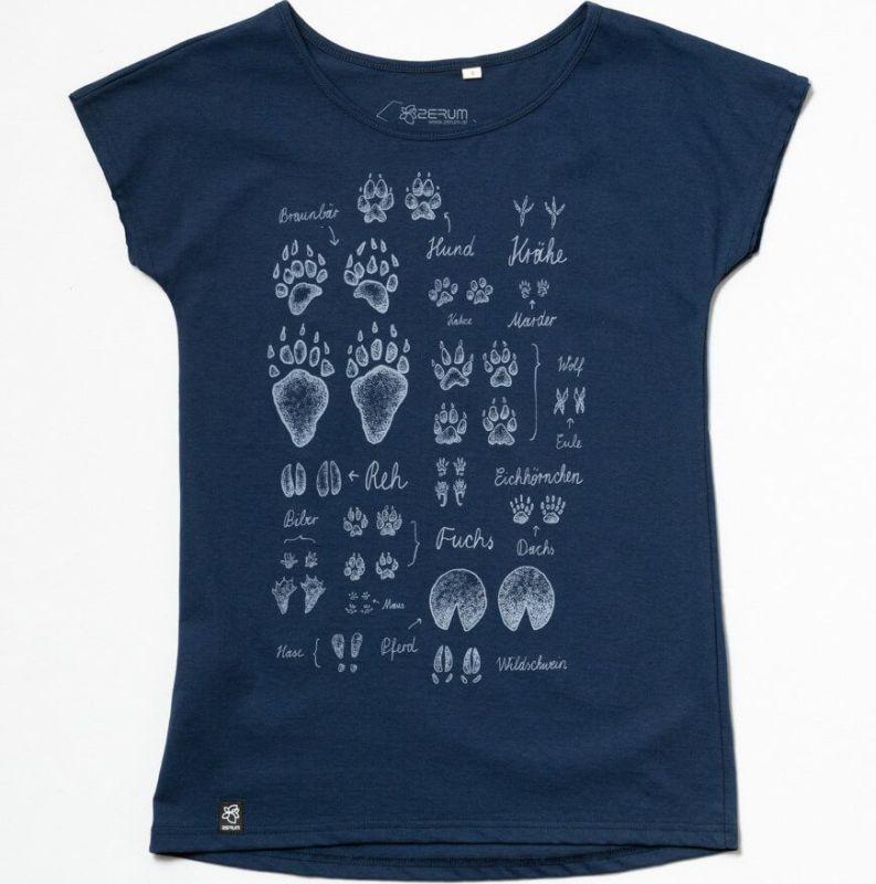 Dunkelblaues Damen-Shirt Lea Spuren