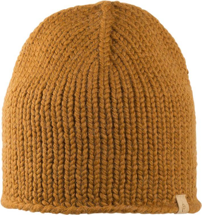 Weiche Beanie-Mütze für Damen in Ocker